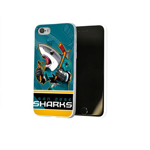 Чехол для Apple iPhone 8 силиконовый глянцевый  Фото 02, San Jose Sharks