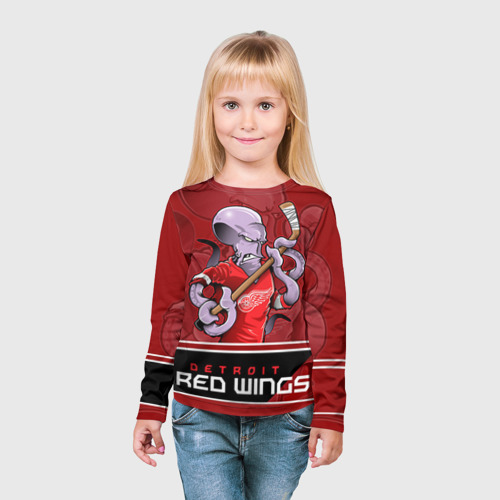 Детский лонгслив 3D  Фото 03, Detroit Red Wings