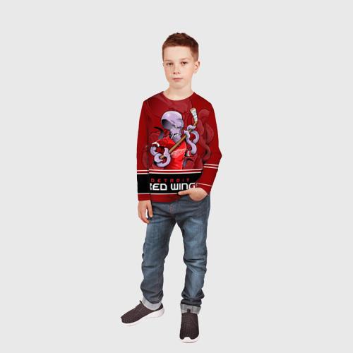 Детский лонгслив 3D  Фото 05, Detroit Red Wings