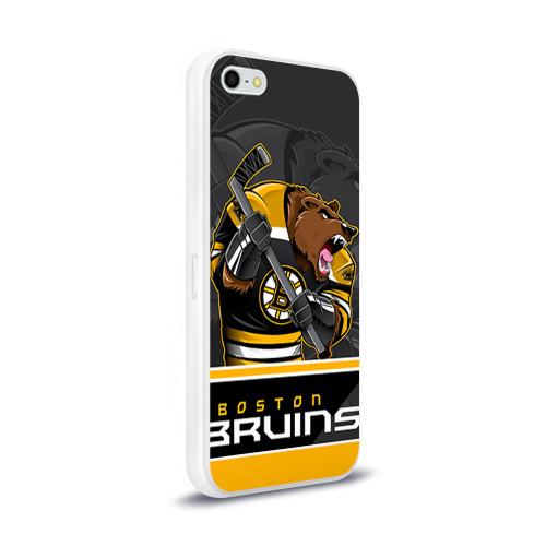 Чехол для Apple iPhone 5/5S силиконовый глянцевый  Фото 02, Boston Bruins