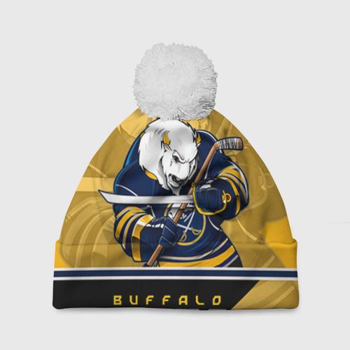 Шапка 3D c помпоном  Фото 01, Buffalo Sabres
