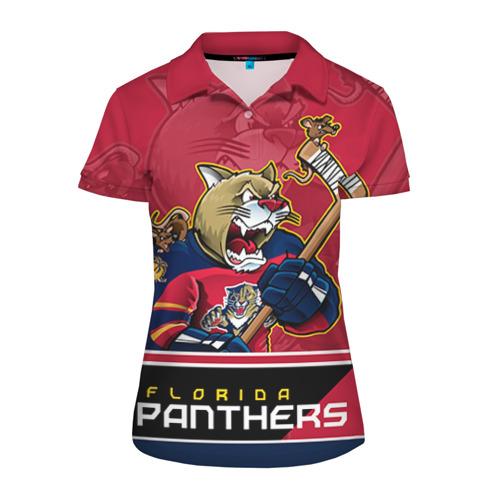 Женская рубашка поло 3D Florida Panthers
