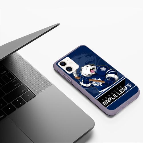 Чехол для iPhone 11 матовый Toronto Maple Leafs Фото 01