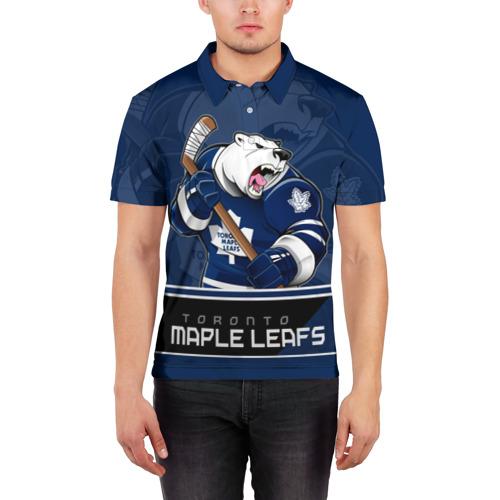 Мужская рубашка поло 3D  Фото 03, Toronto Maple Leafs