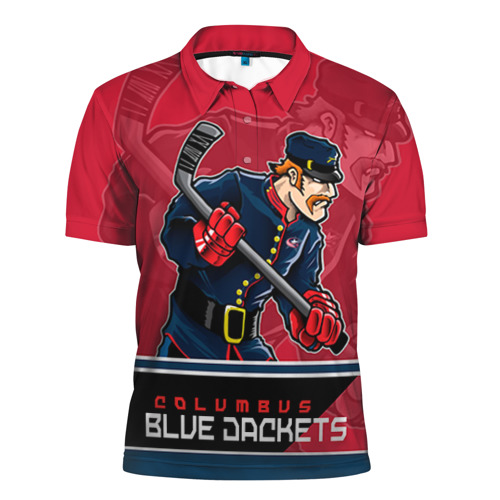 Мужская рубашка поло 3D  Фото 01, Columbus Blue Jackets
