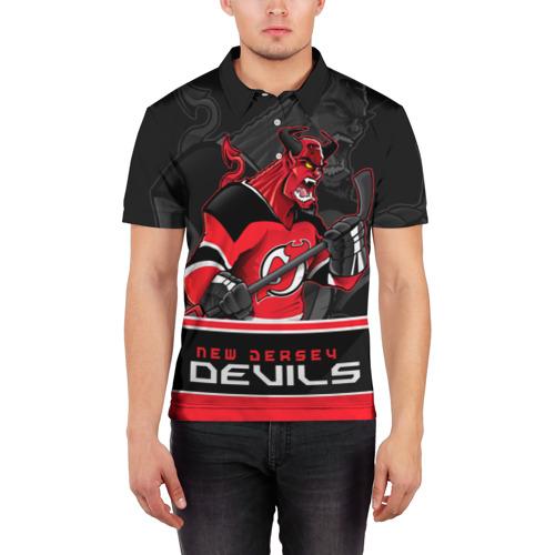 Мужская рубашка поло 3D  Фото 03, New Jersey Devils