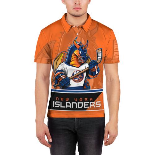 Мужская рубашка поло 3D  Фото 03, New York Islanders
