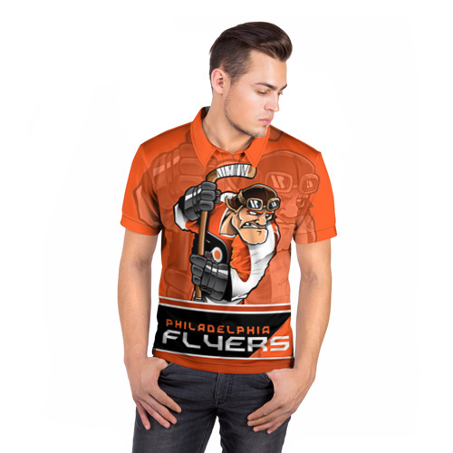Мужская рубашка поло 3D  Фото 05, Philadelphia Flyers