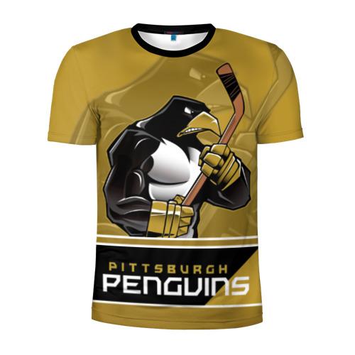 Мужская футболка 3D спортивная  Фото 01, Pittsburgh Penguins