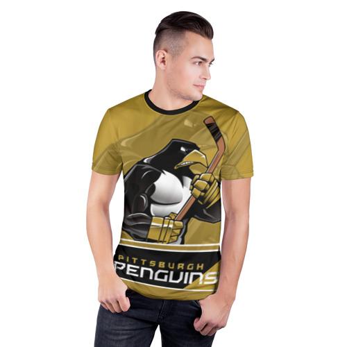 Мужская футболка 3D спортивная  Фото 03, Pittsburgh Penguins