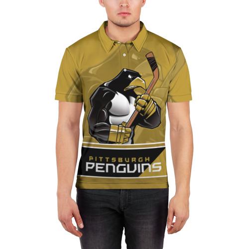 Мужская рубашка поло 3D  Фото 03, Pittsburgh Penguins