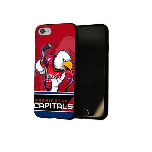 Чехол для Apple iPhone 8 силиконовый глянцевый Washington Capitals Фото 01