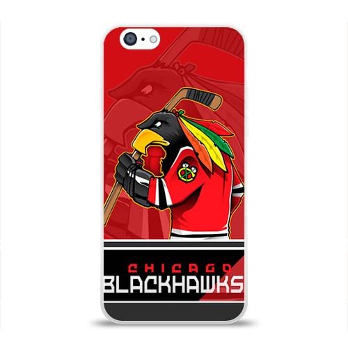 Чехол для Apple iPhone 6 силиконовый глянцевый  Фото 01, Chicago Blackhawks