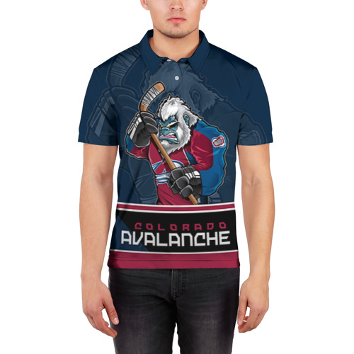 Мужская рубашка поло 3D  Фото 03, Colorado Avalanche