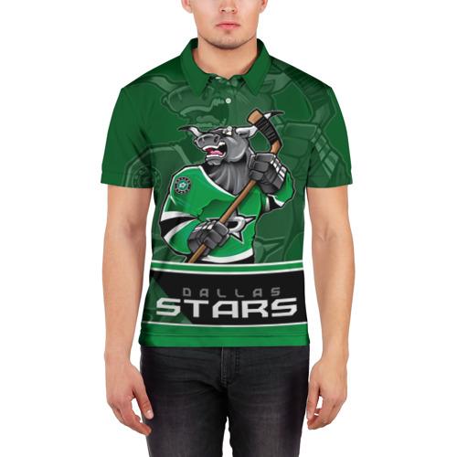 Мужская рубашка поло 3D  Фото 03, Dallas Stars