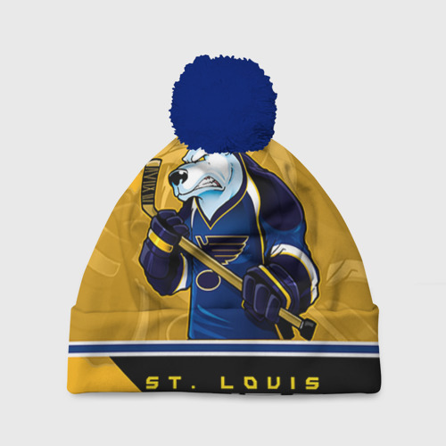 Шапка 3D c помпоном St. Louis Blues