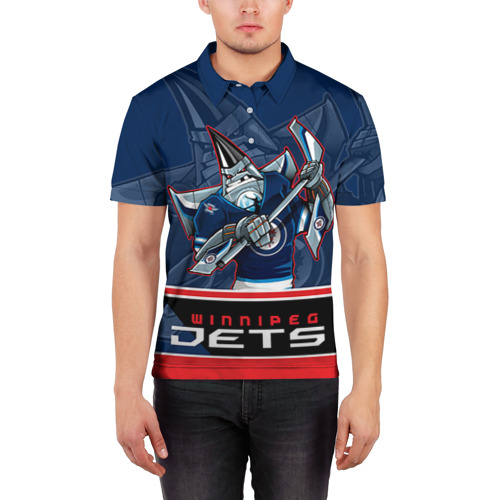 Мужская рубашка поло 3D  Фото 03, Winnipeg Jets