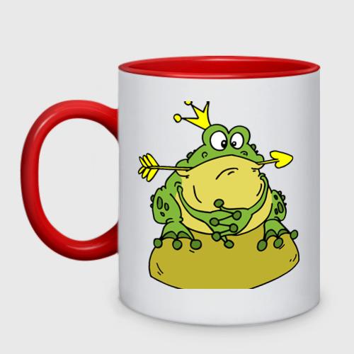 Кружка двухцветная  Фото 01, Царевна лягушка