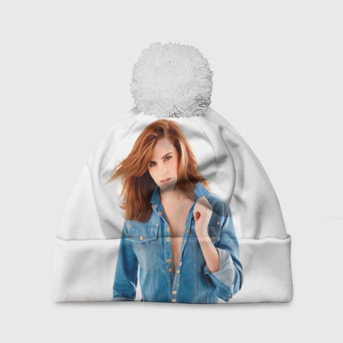 Шапка 3D c помпоном  Фото 01, Emma Watson