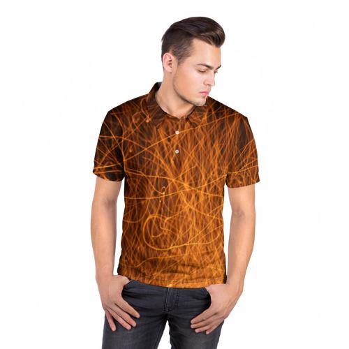 Мужская рубашка поло 3D  Фото 05, Нити пламени