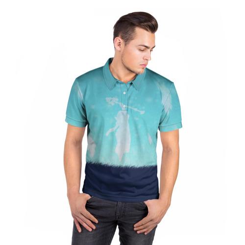 Мужская рубашка поло 3D  Фото 05, Snowing