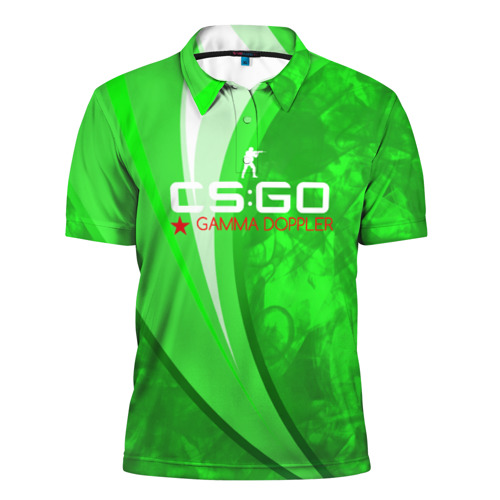 Мужская рубашка поло 3D  Фото 01, cs:go - Gamma Doppler Style