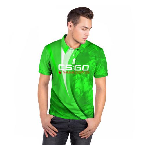 Мужская рубашка поло 3D  Фото 05, cs:go - Gamma Doppler Style