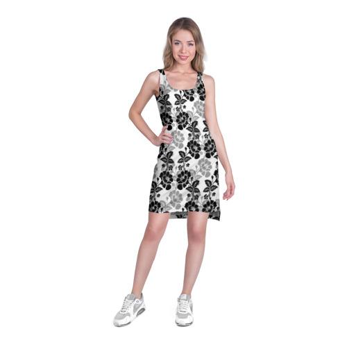 Платье-майка 3D  Фото 03, Цветы