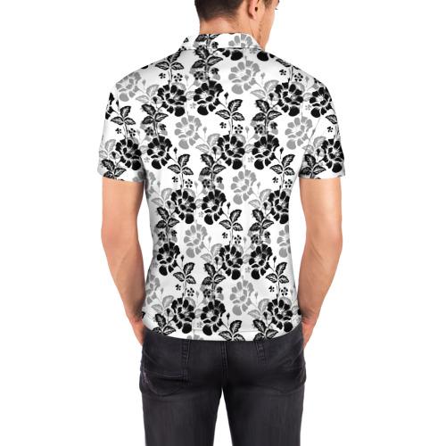 Мужская рубашка поло 3D  Фото 04, Цветы
