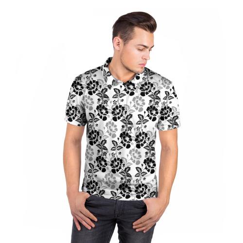 Мужская рубашка поло 3D  Фото 05, Цветы