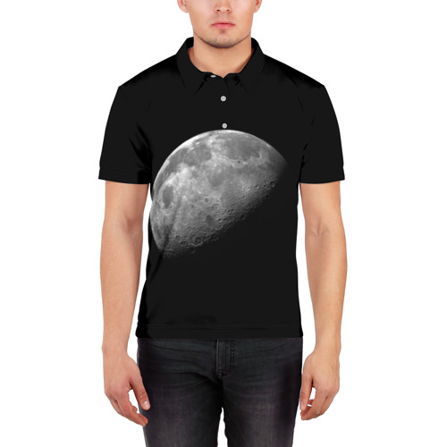 Мужская рубашка поло 3D  Фото 03, moon