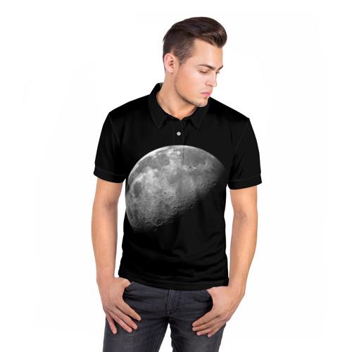 Мужская рубашка поло 3D  Фото 05, moon