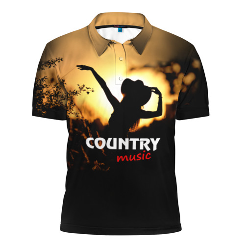 Мужская рубашка поло 3D  Фото 01, Country music