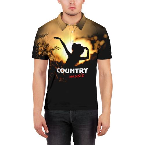 Мужская рубашка поло 3D  Фото 03, Country music