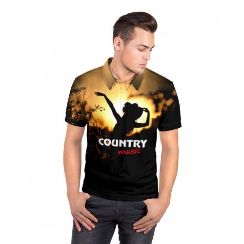 Мужская рубашка поло 3D  Фото 05, Country music