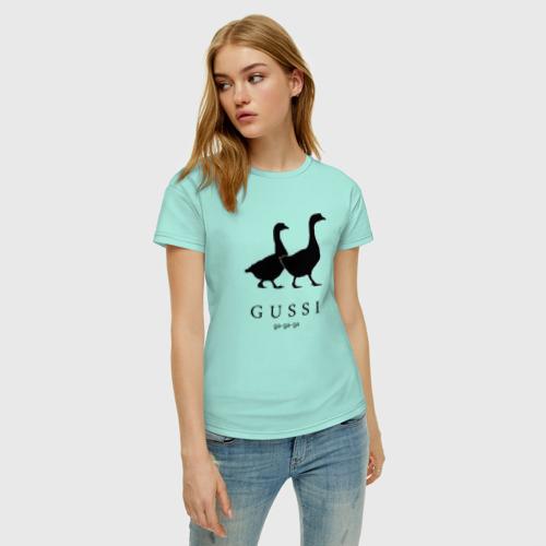 Женская футболка хлопок GUSSI Фото 01