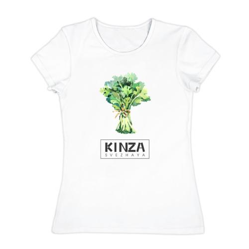 Женская футболка хлопок KINZA