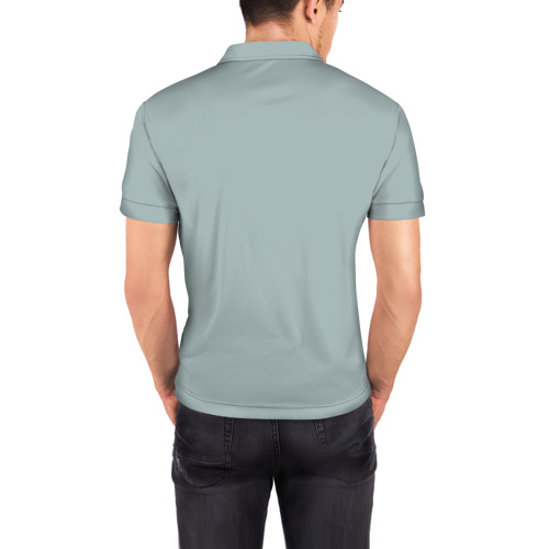 Мужская рубашка поло 3D  Фото 04, Живи, Люби, Смейся