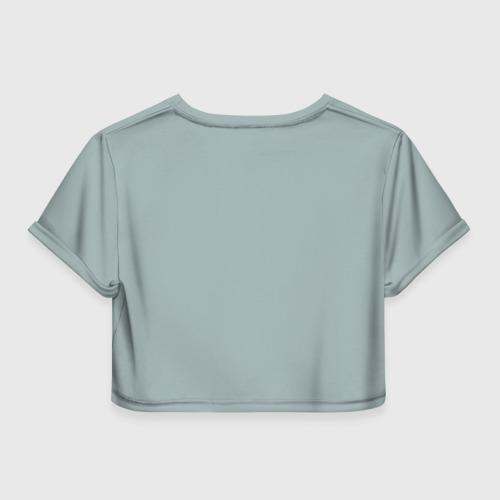 Женская футболка 3D укороченная  Фото 02, Живи, Люби, Смейся