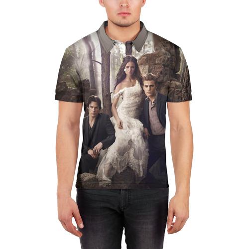 Мужская рубашка поло 3D  Фото 03, Дневники вампира 9