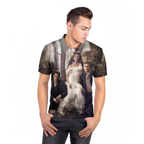 Мужская рубашка поло 3D  Фото 05, Дневники вампира 9