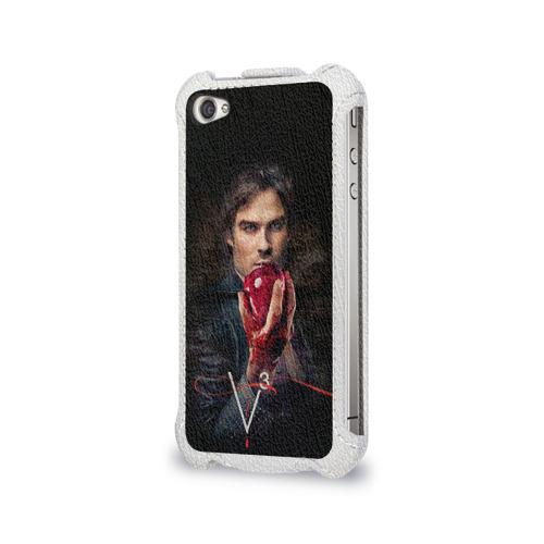 Чехол для Apple iPhone 4/4S flip  Фото 03, Дневники вампира 12