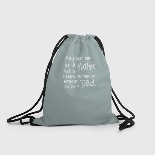 Рюкзак-мешок 3D  Фото 01, Не всякий может быть дедом.