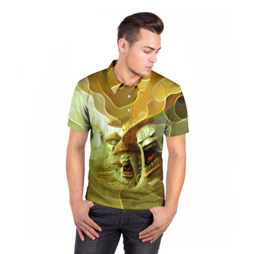 Мужская рубашка поло 3D  Фото 05, Злые грибы