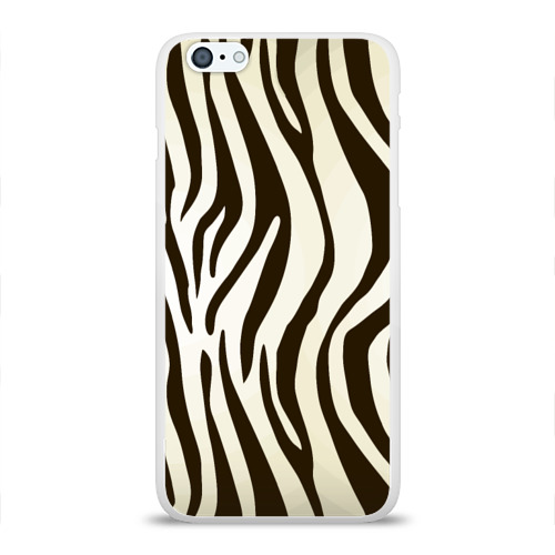 Чехол для Apple iPhone 6Plus/6SPlus силиконовый глянцевый Шкура зебры Фото 01