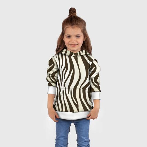 Детская толстовка 3D Шкура зебры Фото 01