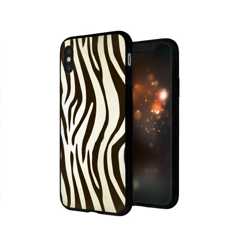 Чехол для Apple iPhone X силиконовый глянцевый Шкура зебры Фото 01