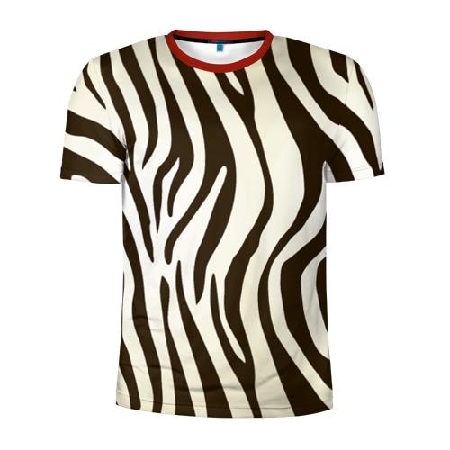 Мужская футболка 3D спортивная Шкура зебры Фото 01