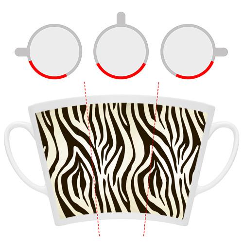 Кружка Латте Шкура зебры Фото 01