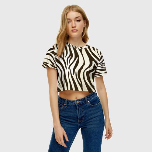 Женская футболка Cropp-top Шкура зебры Фото 01